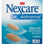 Nexcare Waterproof Clear Bandages, Superior Protection Seals Out Water, Dirt and Germs, Assorted Sizes, 100 Count