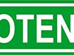 Novelty IMPOTENCE 8″ wide vinyl decal bumper sticker of street sign