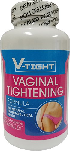 V-TIGHT All Natural Vaginal Tightening Formula (60 Capsules/1-Month Supply) | Pharmaceutical Grade Dietary Vagina Firming Supplement | Women's Sexual Enhancement, Health, Lubrication & Libido