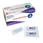 Dynarex First Aid Cream – Relieve Pain from Minor Cuts, Scrapes & Burns – 0.9g Foil Packets – 144 Count