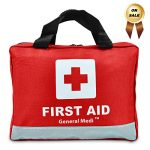 309 Piece Professional First Aid Kit for Medical Emergency – Night Reflective Bag – Includes Emergency Blanket, Bandage, Scissors for Home, Car, Camping, Office, Boat, and Traveling