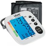 Blood Pressure Monitor by Vive Precision – Automatic Digital Upper Arm Cuff – Accurate, Portable and Perfect for Home Use – Electronic Meter Measures Pulse Rate – 1 Size Fits Most Cuff, Silver