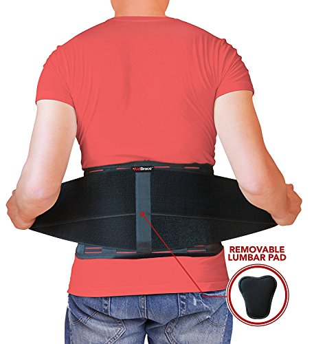 AidBrace Back Brace Support Belt - Helps Relieve Lower Back Pain with Sciatica, Scoliosis, Herniated Disc or Degenerative Disc Disease for Men & Women (2XL/3XL)