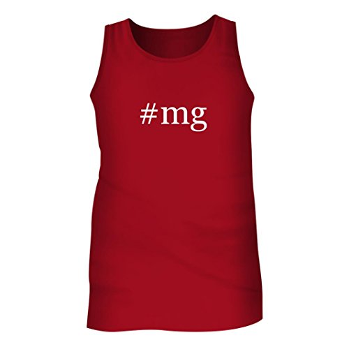 Tracy Gifts #MG - Men's Hashtag Adult Tank Top, Red, X-Large