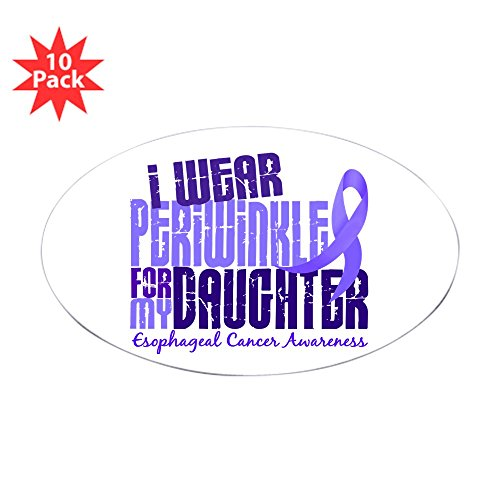 CafePress - I Wear Periwinkle 6.4 Esophageal Cancer Sticker (O - Oval Sticker (10-pack), Bumper Sticker, Car Decal, Euro Oval