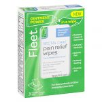 Fleet Rectal Care Pain Relief Wipes-Triple Medication Relief, 24 Pain Relief Wipes-Septic Safe