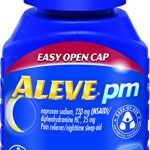 Aleve PM with Easy Open Arthritis Cap, Caplets with Naproxen Sodium, 220mg (NSAID) Pain Reliever/Fever Reducer/Sleep Aid, 80 Count