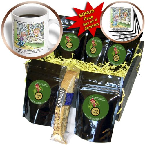 Londons Times Funny Medicine Cartoons - Erectile Dysfunction and the Pharmacist - Coffee Gift Baskets - Coffee Gift Basket (cgb_3431_1)