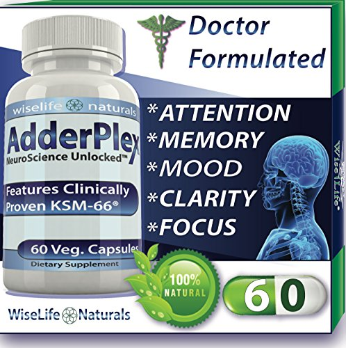 #1 Energy Boost Nootropic Brain Foods - Focus Mood Memory Natural Nerve Tonic Anti Anxiety Stress Support Sport Enhancing Pill Stack Ashwagandha Bacopa Ginkgo Ginseng Phosphatidylserine DMAE Vitamin B
