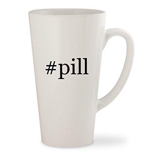 #pill - White Hashtag 17oz Ceramic Latte Mug Cup