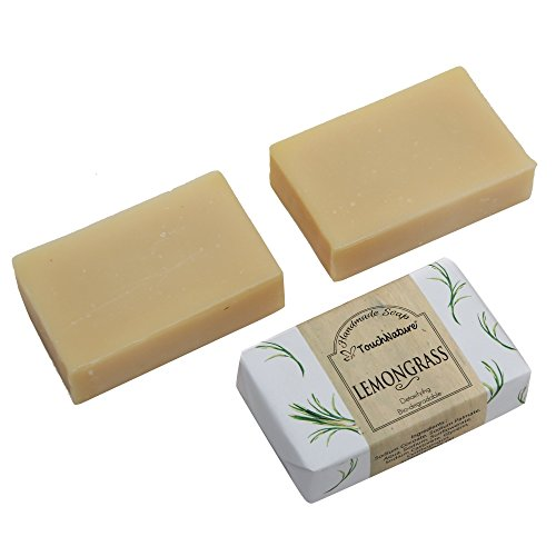 2 pieces 100gm Lemongrass Essential Oil Natural Soap. Free of SLS, SLES, Parabens and Carcinogenic ingredients.100% Bio-Degradable and Detoxifying. Anti-persirant, Natural Anti-Septic. NO CHEMICAL.