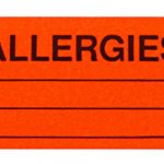 """Allergies"" Sticker Labels in Dispenser Box 