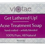 Vi-Tae 100% Natural and Organic Handmade 'Get Lathered Up' 4oz Soap Bars (Acne Treatment, 1 pack)