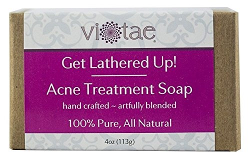 Vi-Tae 100% Natural and Organic Handmade'Get Lathered Up' 4oz Soap Bars (Acne Treatment, 1 pack)