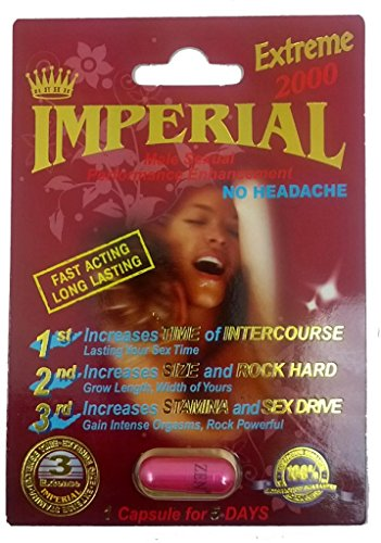 Imperial Extreme 2000mg Male Sexual Performance Enhancement Pill 6 PK