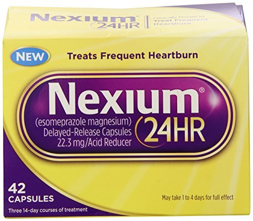 Nexium 24HR Capsules, 42 Count (Pack of 4)