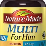 Nature Made Multi for Him Tablets  w. D3 – 22 Essential Vitamins & Minerals 90 Ct