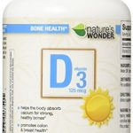 Nature's Wonder Vitamin D3 5000 IU (125mcg) Soft Gels, 365 Count