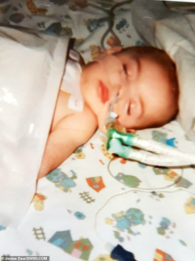 Grace Daw's problems started as a newborn, although it is unclear what the root cause is. She was unable to keep milk down after breastfeeding or bottle feeding, and was fitted with a feeding tube. Her mother claims it was fitted wrong, giving her a phobia of choking