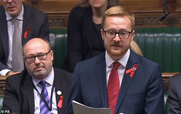 Lloyd Russell-Moyle, an MP for Brighton, was the lead signatory on the letter to public health minister Steve Brine. Mr Russell-Moyle, 32, last month announced in Parliament  he has been living with HIV for a decade