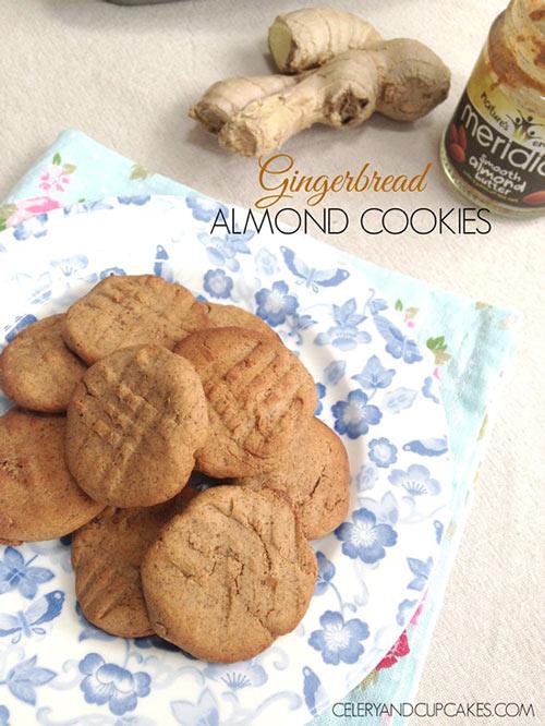 Gingerbread Almond Cookies