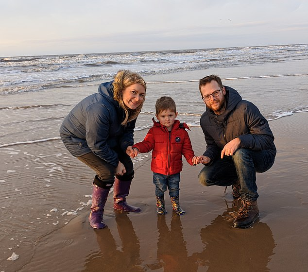 Mr Molloy said tragedies like this only happen'on the news and in films'. Pictured, the family together on the beach