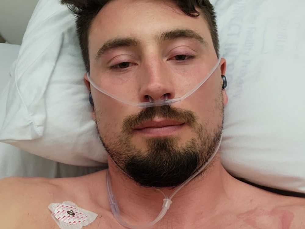 Alex Kopacz, 31, a gold medal Olympian brakeman in men's bobsled, was hospitalized with COVID-19.