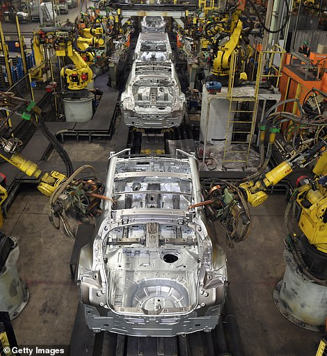 The Nissan car factory in Sunderland (file)